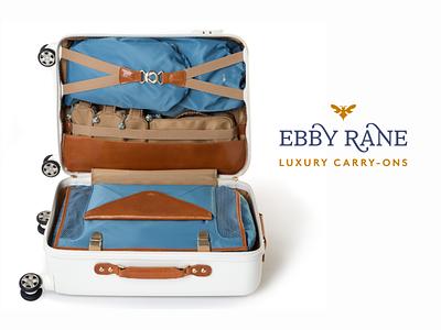 Ebby Rane Luxury Carry-ons luggage travel blog post blog design luxury brand luxury design website web design website design