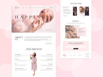 Fertility Clinic - Website Concept ui logo website webdesign figma typography web design