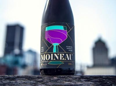 Moineau - Beer Label for Matera and Avant-Garde bottle design illustration quebec bottle quadrupel beer label