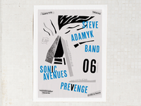 Poster - Steve Adamyk Band, Sonic Avenues and Prevenge show
