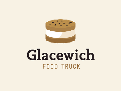 Le Casse-Glace logo - Second attempt logo ice cream food truck