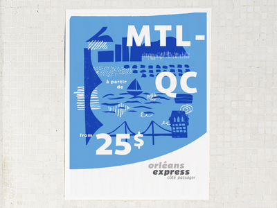 Orléans Express - Côté passager montreal quebec ad bus