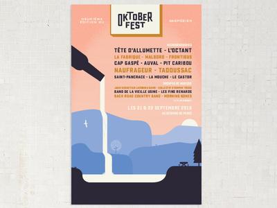 Poster for the second edition of the gaspesian's Oktoberfest gaspésie quebec poster festival oktoberfest beer