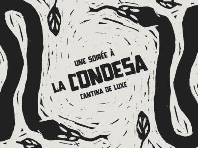 Une soirée à la Condesa food mexican serpent lino cut pop up restaurant
