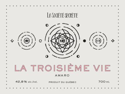 La Société Secrète - La troisième vie distillery label amaro alchohol