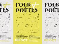 Poster Folk + Poètes
