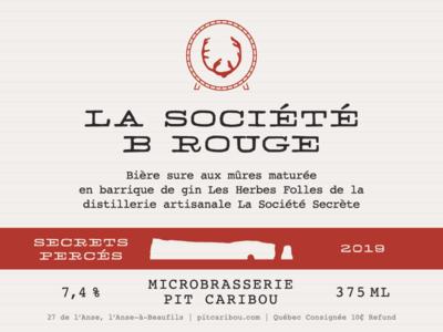 Pit Caribou - Label for the Secrets Percés serie sour barrel classic microbrewery label beer