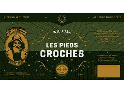 Pit Caribou - Les Pieds Croches ale wild hiking canada quebec microbrewery beer