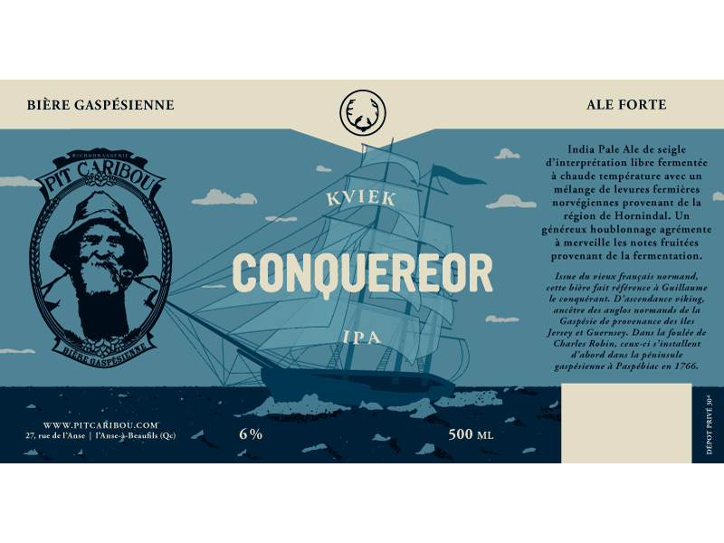 Pit Caribou - Conquereor schooner kviek ipa quebec microbrewery beer ale