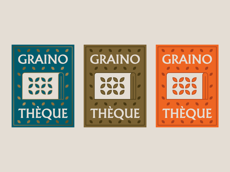 Concept of a logo for a Seed Sharing section in a public library logo icon books public