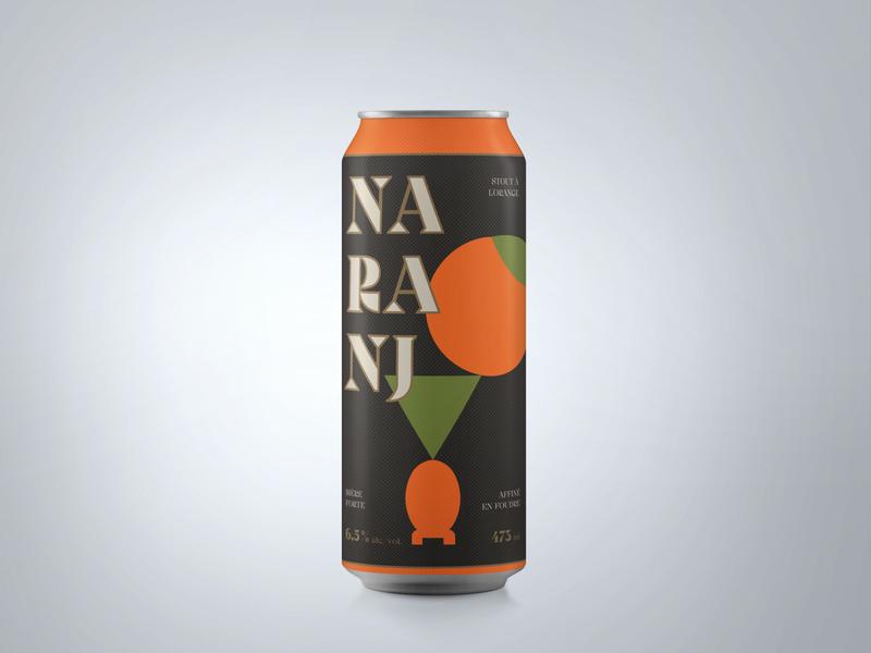 NARANJ - Label for an Orange Stout by Matera and Avant-Garde orange stout beer label quebec