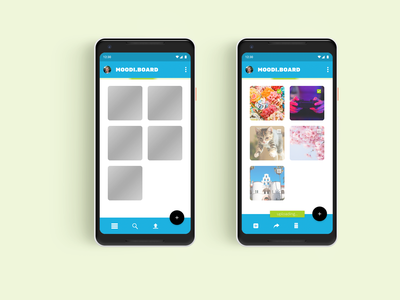 Google Pixel UI - Progress Indicators photo album moodboard google pixel student design student ui ux designer ux design ui  ux uiux ui designer ui design app design