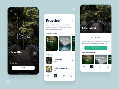 Meditation App meditate meditation iphone pure design interface app ui