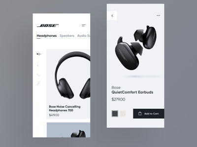 Bose Store Concept headphones bose ux pure clean design interface app ui