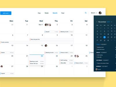Desktop Calendar Application