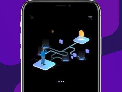 Blockchain App illustration