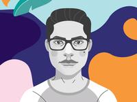 Autoretrato Ilustrado illusrator dribbble vector design procreate ui design illustration ui