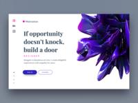 Landing page for design portfolio