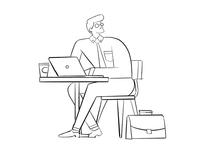 Sketch illustration for card web