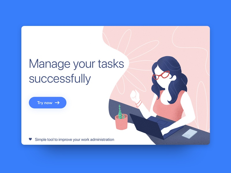 Manage your tasks design typography dribbble ux ux design user interface user experience card procreate ui design web design interaction design clean illustration ui