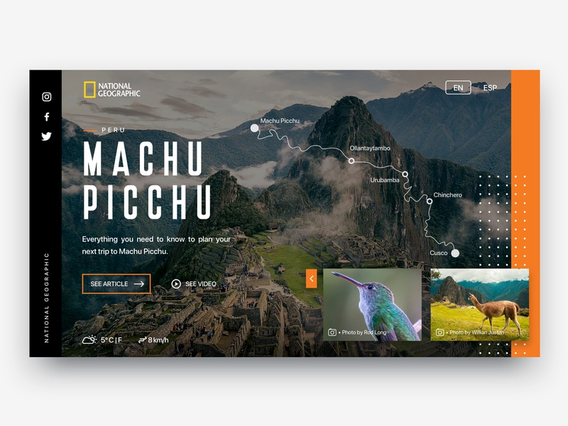 Discovery Machu Picchu machupicchu peru cuzco ux user experience ui design interaction design illustration ui