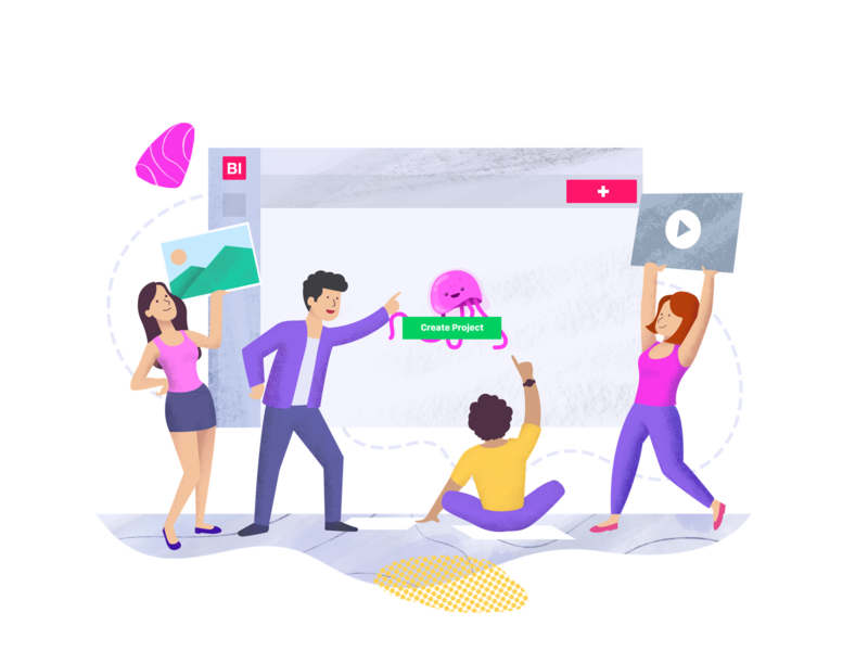 Illustration for website web landing ui illustration