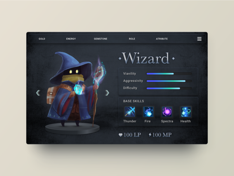 Daily UI Challenge -  Spell Part. 2 spell magic mage card procreate ui illustration
