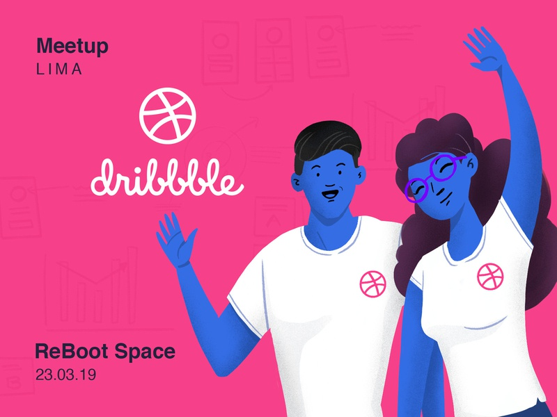 Lima Dribbble Meetup dribbble meetup ui illustration