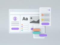UI Design - Render ui design design card illustration ui