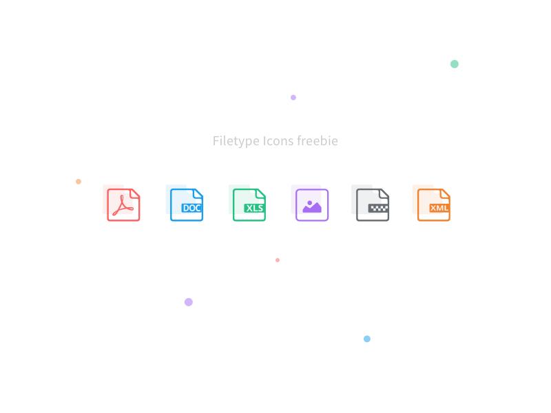 Filetype icons - Sketch Freebie filetype folder upload files line colors icons