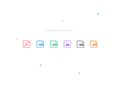 Filetype icons - Sketch Freebie filetype folder upload files line colors icons