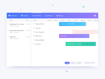 Task Dispatcher webapp screen