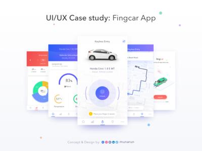 UI/UX case study of my conceptual app - Fingcar