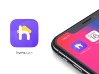 home.com branding app icon conceptual design