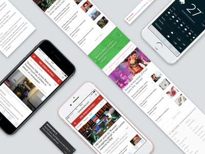 Redesign of The Times of India Mobile Website homepage article live weather sports news ux ui ios mobile web