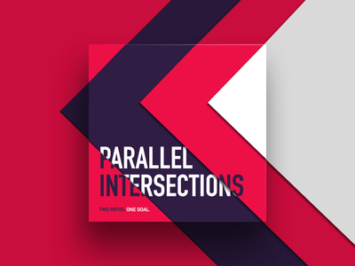 Parallel Intersections Podcast Artwork intersections material design parallel artwork audio design podcast