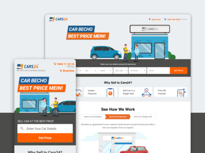 Cars24.com homepage redesign