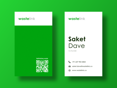 Business cards for a recycling startup