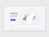 Even.com - App Features Carousel transition slideshow carousel website web design ux ui paper illustration minimal layout finance design clean app