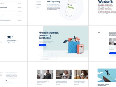 Even.com - Modules modules website web design ux ui paper illustration minimal layout finance design clean app