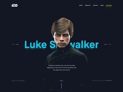 Landing Page (hero) day003 web design landing challenge daily landing page ui dark star wars dailyui