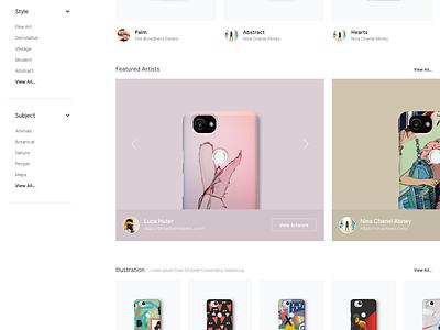 Google LiveCase - Concepts Part II google phone case phone clean web design ecommerce store shop ux website minimal design ui
