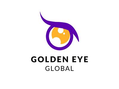 Golden Eye Global Logo Design art website illustrator minimal icon typography vector logo design branding