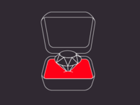 A diamond in a box