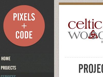 Pixels + Code site design