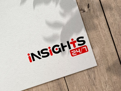 Insights Logo branding illustration typography photoshop logo illustrator graphicdesign design businesscard