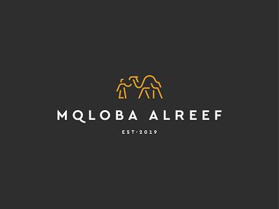 Mqloba Alreef animal shepherd camel symbol mark icon logo arabic traditional restaurant