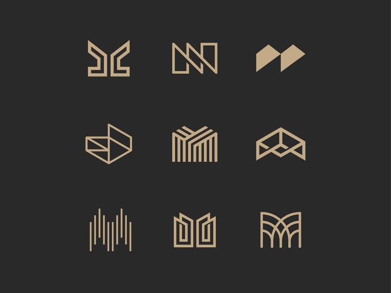 M exploration egypt luxury letters symbol mark icon logo house home real estate