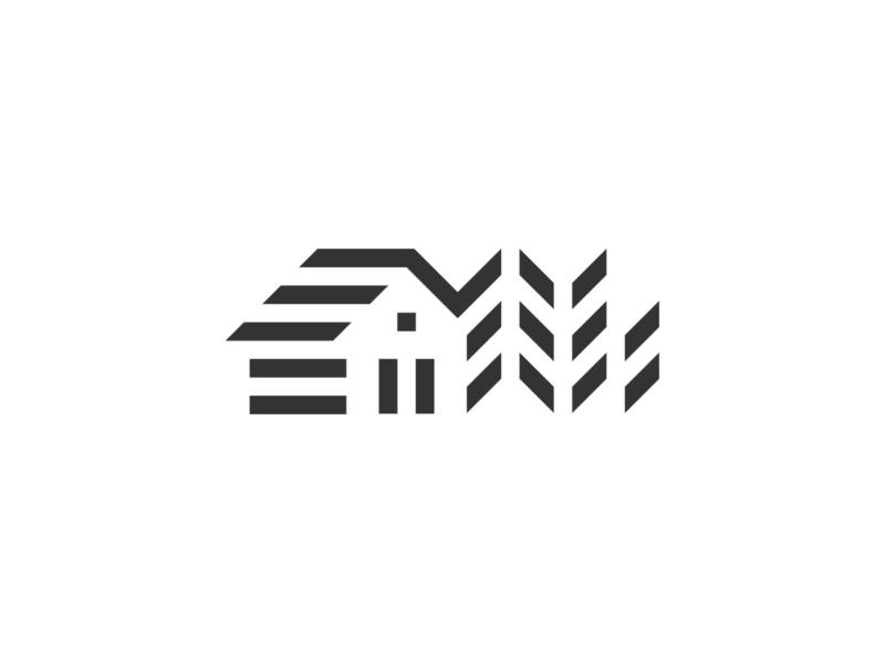 Farm food simple symbol mark icon logo field wheat agriculture house farm