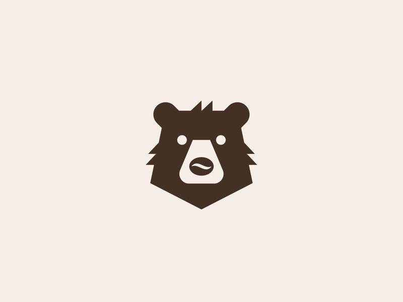 Coffee Bear food simple animal symbol mark icon logo bear coffee